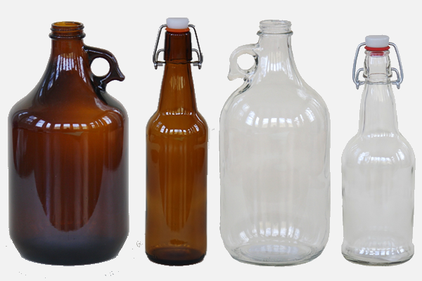 Glass Bottles and Growlers
