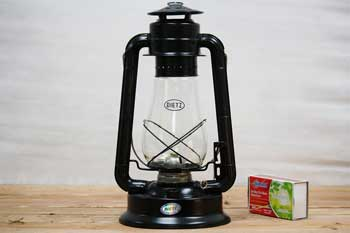 Large Black Hanging Oil Lantern