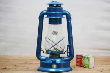 Large Blue Hanging Oil Lantern