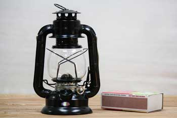 Small Kerosene Lantern Black