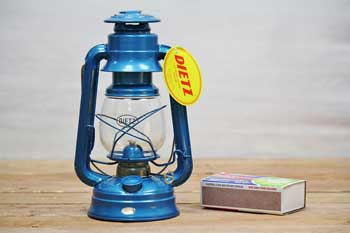 Small Hurricane Lantern Blue