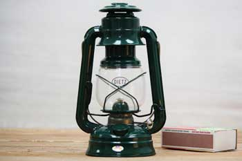 Small Hurricane Lantern Green