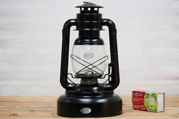 Oil Burning Lantern Black