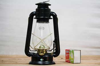 Old Style Lantern Black with Gold