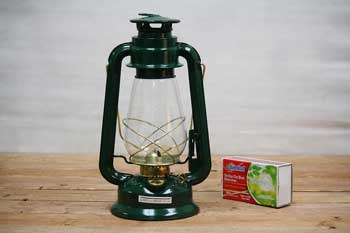 Green Hurricane Oil Lantern