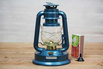 Blue Outdoor Oil Lantern