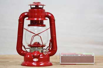 Small Kerosene Lantern Red