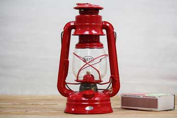 Small Hurricane Lantern Red