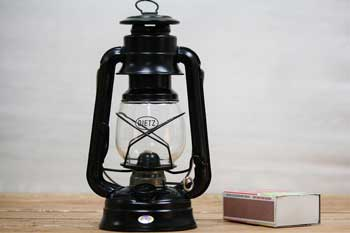 Small Hurricane Lantern Black