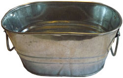 1 gallon metal oval wash tub