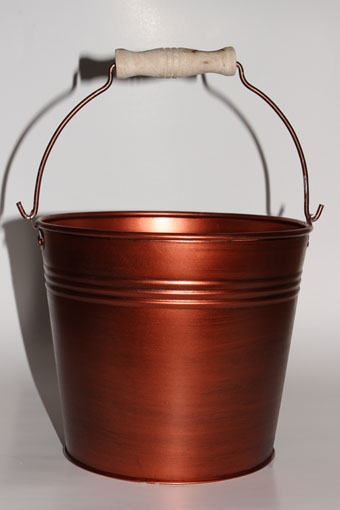 Red Hill General Store Copper Painted Bucket