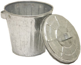 Red Hill General Store Galvanized Mini Trash Cans