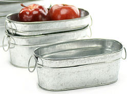Red Hill General Store: Small Galvanized Oval Wash Tub