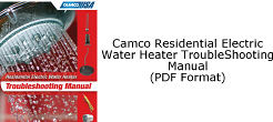 Camco Residential Electric Water Heater Troubleshooting Manual