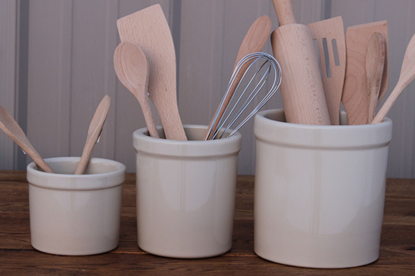 Stoneware Utensil Holders