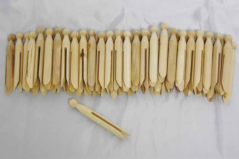 Old Fashioned Clothes Pins Wooden Clothespins Red Hill